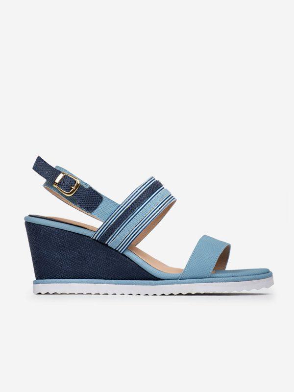 Molly02, Todos los Zapatos,ellas, Sandalia plataforma, AZU (2)