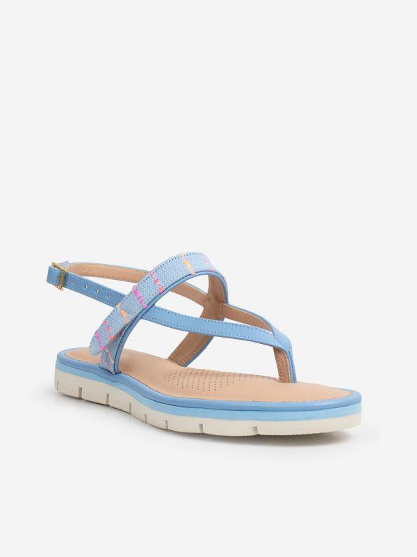 Hita02, Todos los zapatos, Sandalias Planas, AZU (2)