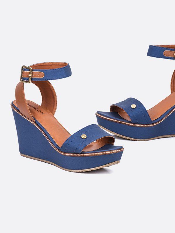NINA20, Todos los zapatos, Sandalias Plataforma, Sintético, AZU, Vista Galeria