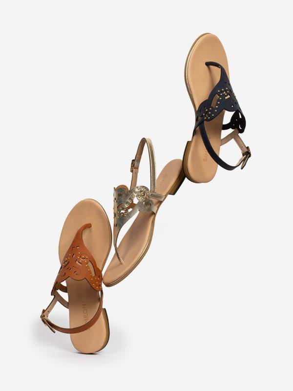 USHER, Todos los zapatos, Sandalias Planas,