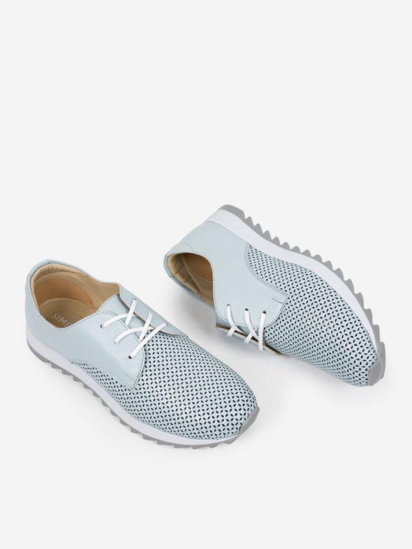 AMALIS2, Todos los zapatos, Tenis, Deportivos, Zapatos de Cordón, Cuero, AZU, Vista Galeria