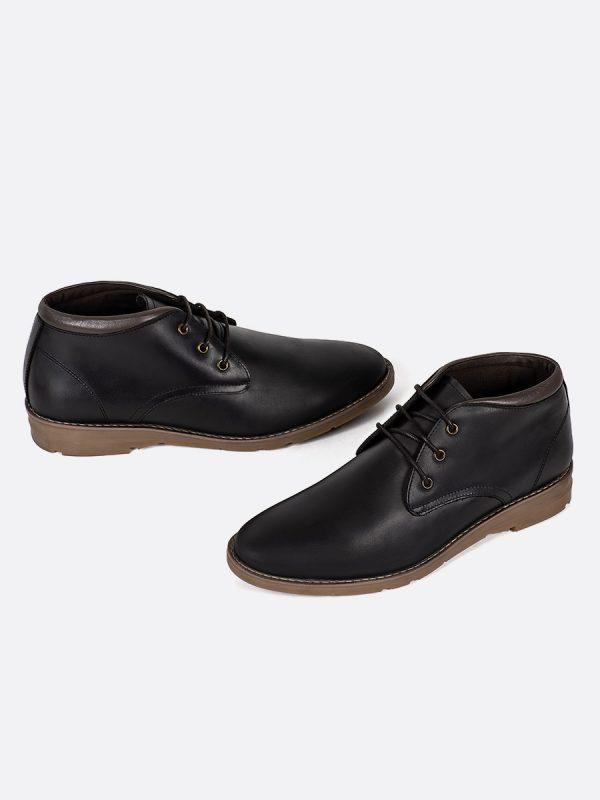 BELMO02,Todos los Zapatos, Zapatos Casuales, Botas Casuales, Cuero, NEG, Vista Galeria
