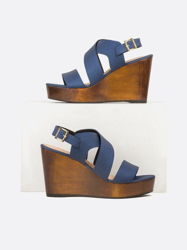 CECILLE2, Todos los zapatos, Plataformas, Sandalias Plataformas, Sintético, AZU, Vista Galeria