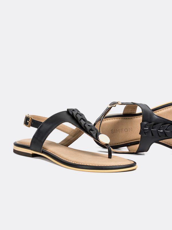 TALIS4, Todos los zapatos, Sandalias, Sandalias Planas, Sintético, NEG, Vista (1)
