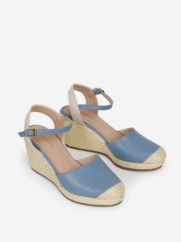 THAI, Todos los zapatos, Sandalias Plataforma, Sintético, Yute, AZU, Vista Galeria