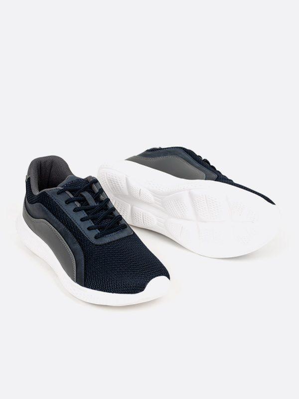 DECO02, Todos los zapatos, Deportivos, Tenis, Cuero, AZU, Vista Galeria