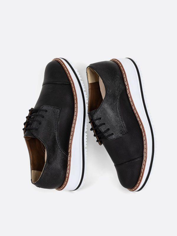 EMILIANA2019-2 Todos los zapatos, Zapatos de Cordón, Sintético, NEG, Vista Galeria