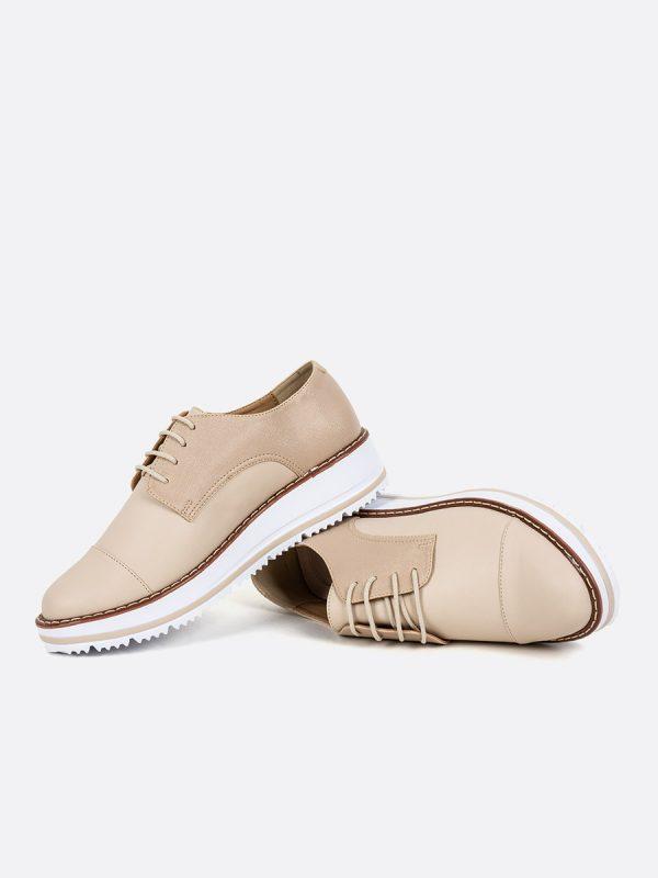 EMILIANA2019-2 Todos los zapatos, Zapatos de Cordón, Sintético, NUD, Vista Galeria
