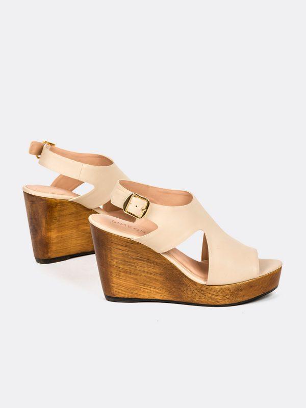 MONILLA04, Todos los zapatos, Plataformas, Sandalias Plataformas, Sintético, BEG, Vista Galeria