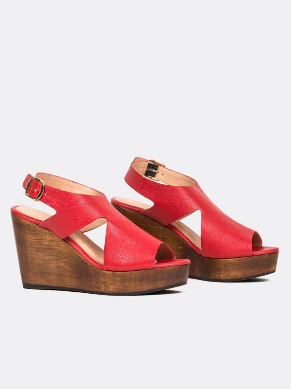 MONILLA04, Todos los zapatos, Plataformas, Sandalias Plataformas, Sintético, ROJ, Vista Galeria