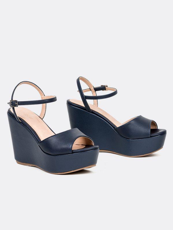 POLLET, Todos los zapatos, Plataformas, Sandalias Plataformas, Sintético, AZU, Vista Galeria