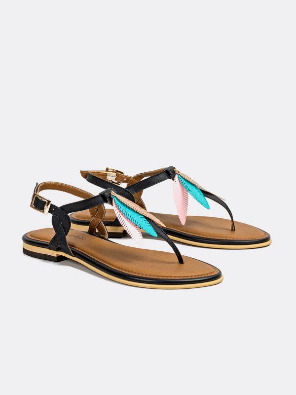 TALIS3, Todos los zapatos, Sandalias, Sandalias Planas, Sintético, NEG, Vista Galeria