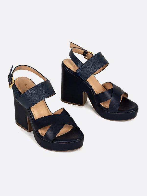 YORK, Todos los zapatos, Plataformas, Sandalias Plataformas, Sintético, AZU, Vista Galeria