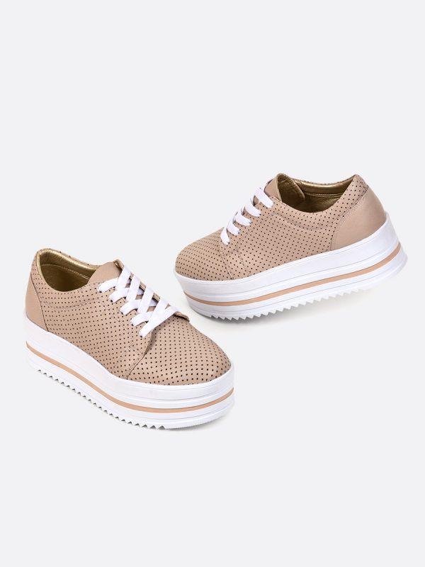 AMALIS Todos los zapatos, Zapatos de Cordón, Sintético, NUD, Vista galeria
