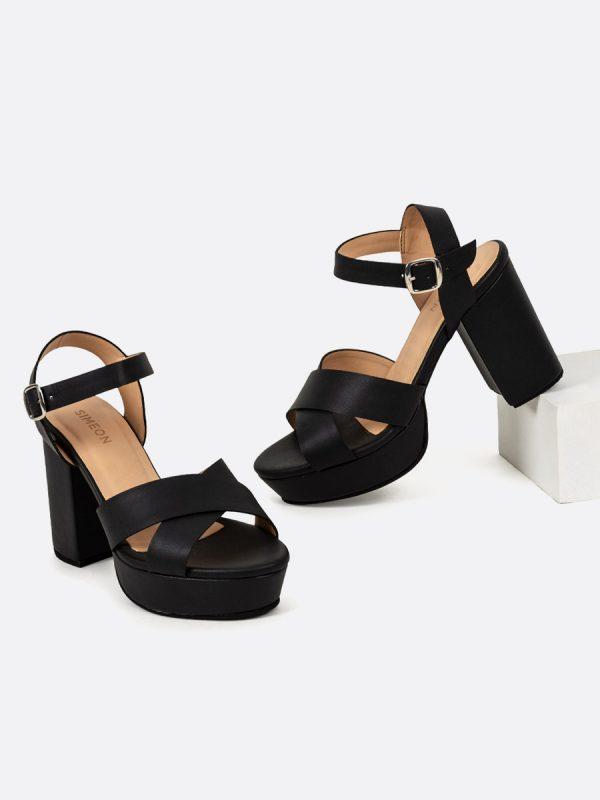 BRUNET-, Todos los zapatos, Sandalia con Tacón, NEG, Vista Galeria