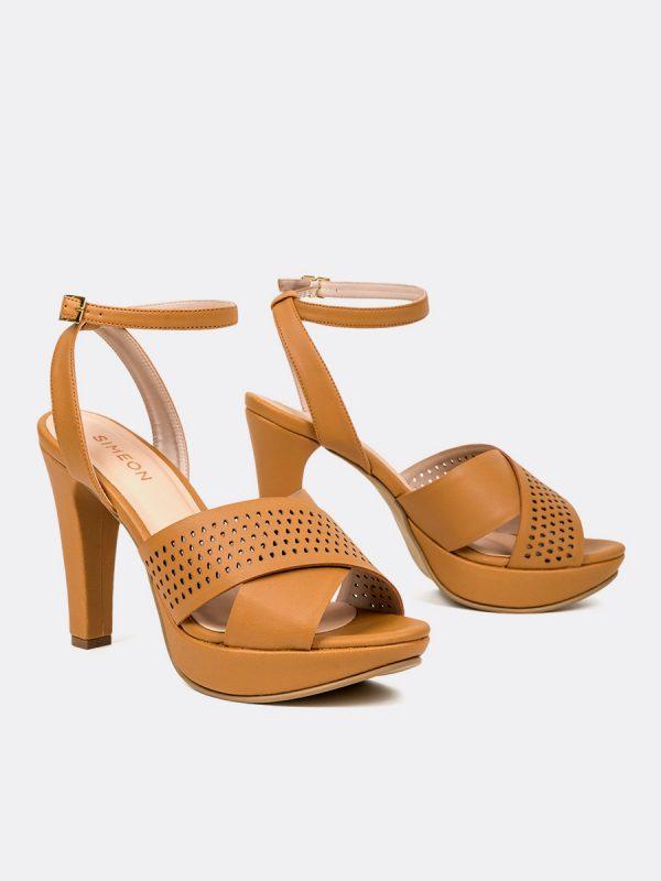 HOPPER, Todos los zapatos, Plataformas, Sandalias Plataformas, Sintético, OCRE, Vista Galeria
