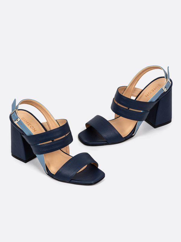 LENA, Todos los zapatos, Sandalias, Sandalias de Tacón, Sintético, AZU, Vista Galeria