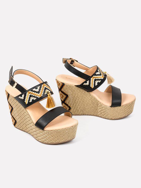 MANAH, Todos los zapatos, Plataformas, Sandalias Plataformas, Sintético, NEG, Vista Galeria