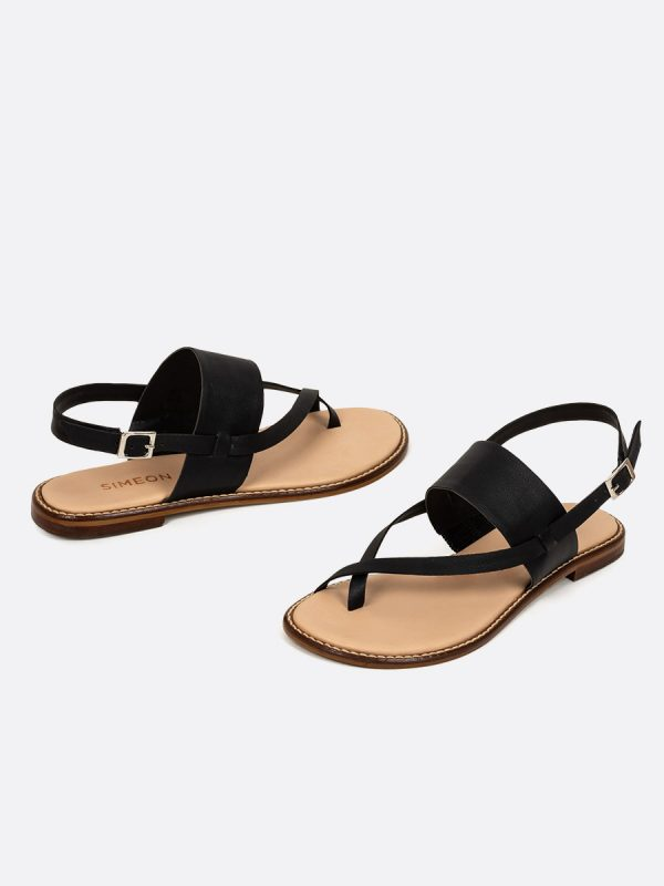 MILOR, Todos los zapatos, Sandalias, Sandalias Planas, NEG, Vista galeria