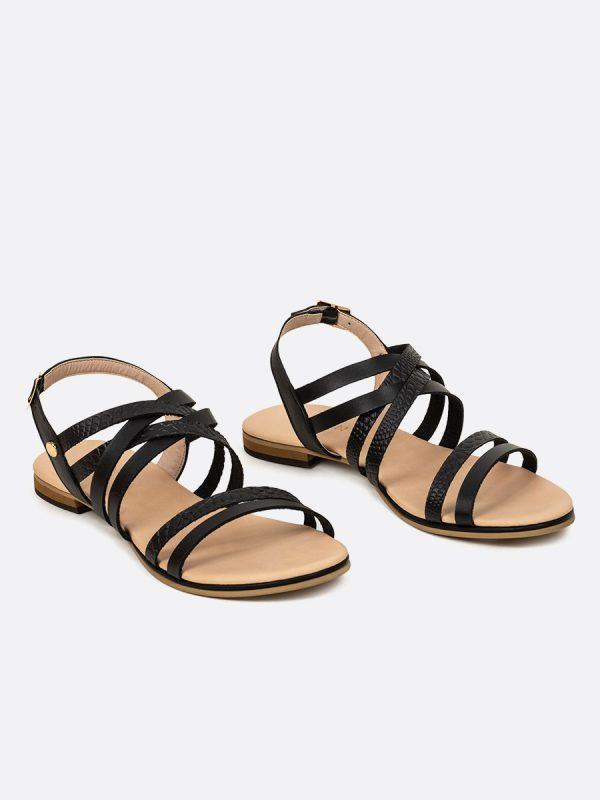 SAND, Todos los zapatos, Sandalias, Sandalias Planas, Sintético, NEG, Vista Galeria