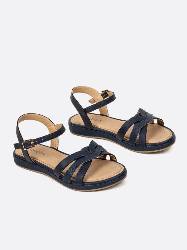 KADY3, Todos los zapatos, Sandalias, Sandalias Planas, AZU, Vista Galeria