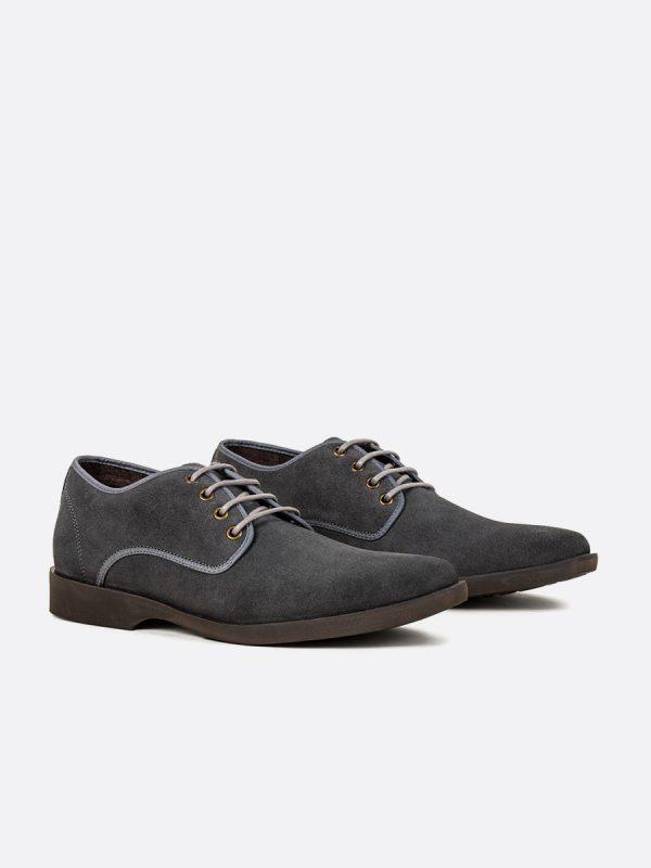 LEONARD04,Todos los Zapatos, Zapatos Casuales, Casuales, Cuero, GRI, Vista (1)