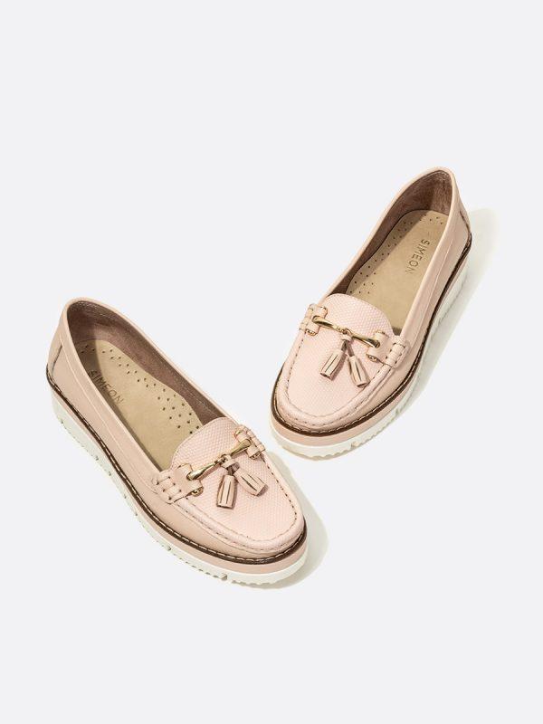 MALACI, Todos los zapatos, Mocasines, Cuero, NUD, Vista Galeria