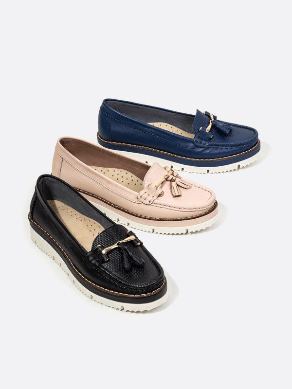 MALACI, Todos los zapatos, Mocasines, Cuero, Vista Galeria