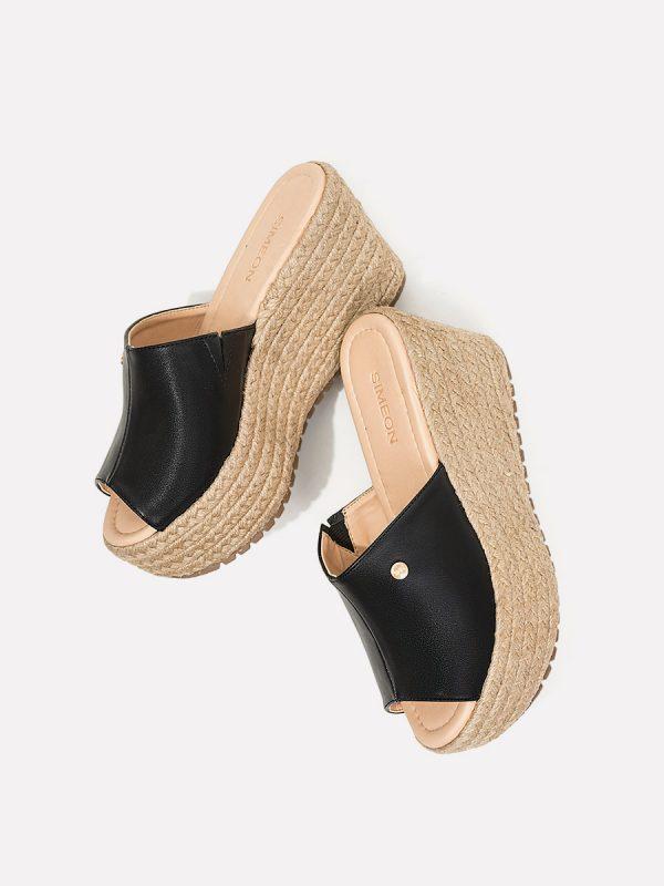 MESH02, Todos los zapatos, Plataformas, Sandalias Plataformas, Sintético, NEG, Vista Galeria