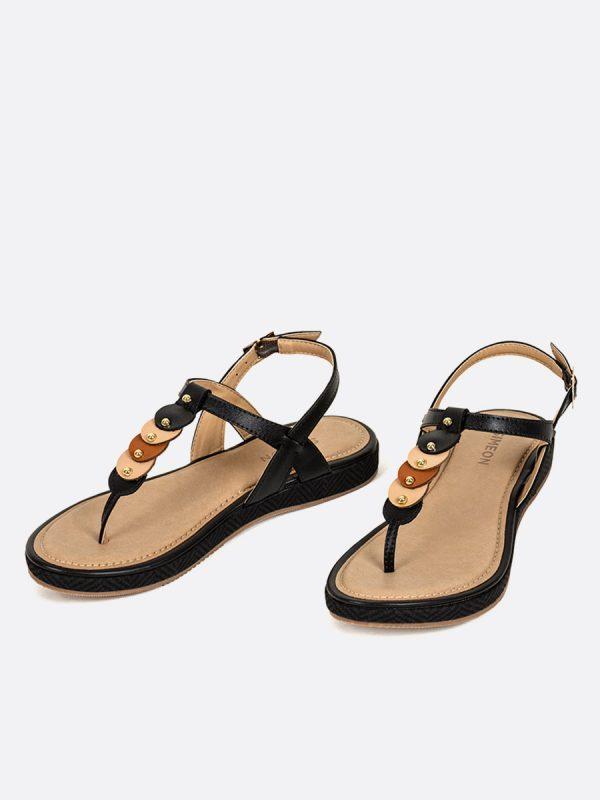 TADEA12, Todos los zapatos, Sandalias, Sandalias Planas, NEG, Vista Galeria