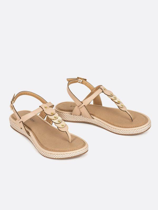 TADEA12, Todos los zapatos, Sandalias, Sandalias Planas, NUD, Vista Galeria