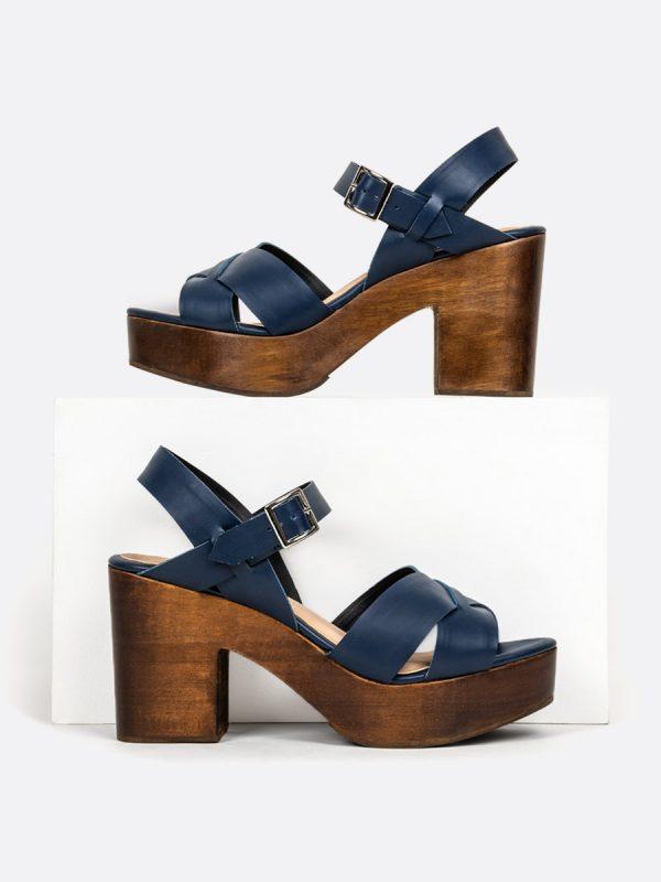 TULSA, Todos los zapatos, Plataformas, Sandalias Plataformas, Sintético, AZU, Vista Galeria