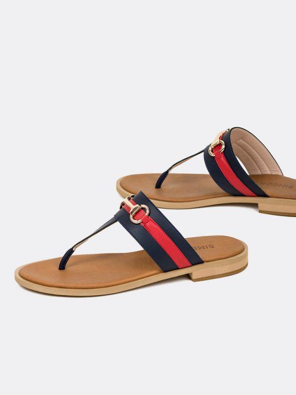 COAJ, Todos los zapatos, Sandalias, Sandalias Planas, AZU, Vista Galeria