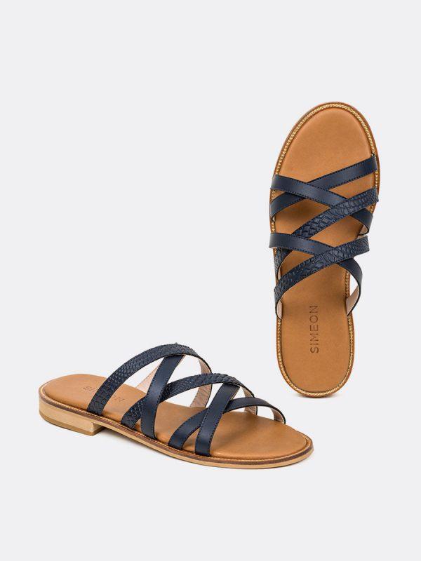COAJ2, Todos los zapatos, Sandalias, Sandalias Planas, AZU, Vista Galeria