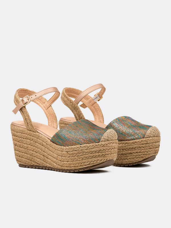 NELLA, Todos los zapatos, Plataformas, Sandalias Plataformas, Sintético, MET, Vista Galeria