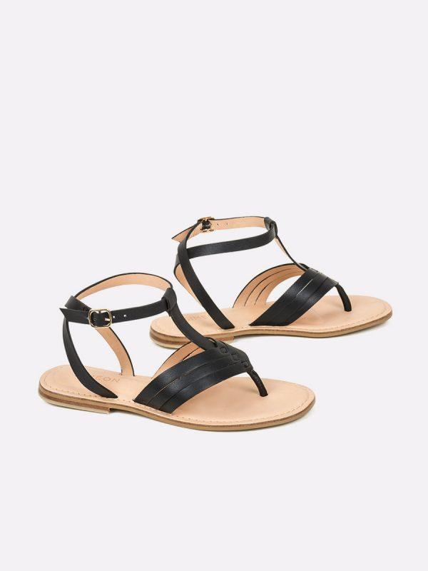 TERRY, Todos los zapatos, Sandalias, Sandalias Planas, NEG, Vista Galeria