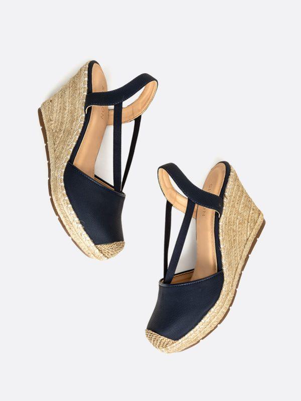 VENICE2, Todos los zapatos, Plataformas, Sandalias Plataformas, Sintético, AZU, Vista Galeria
