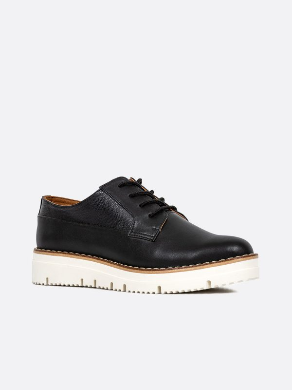 ALLI, Todos los zapatos, Zapatos de Cordón, Sintético, NEG, Vista Diagonal