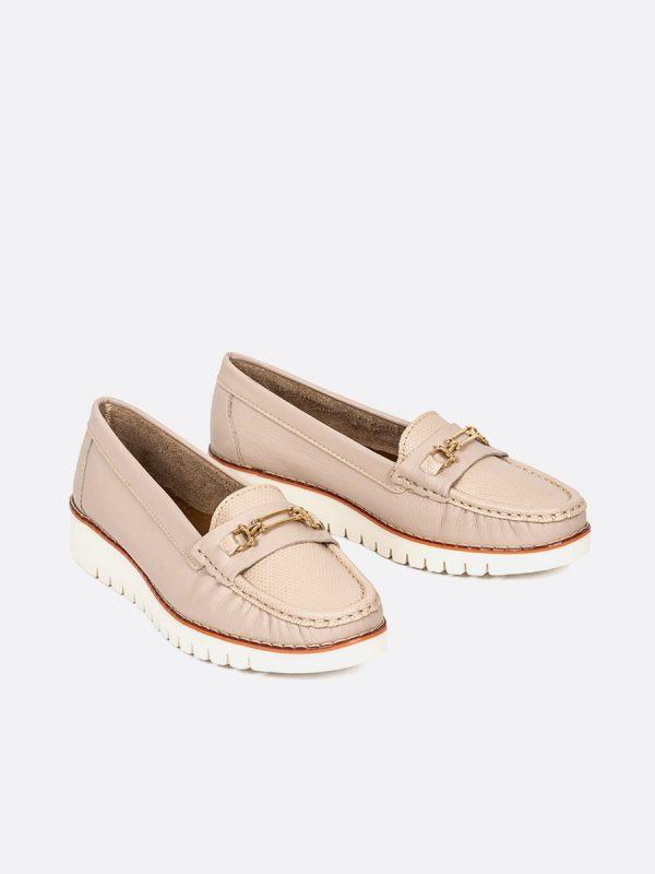 MALU, Todos los zapatos, Mocasines, Cuero, NUD, Vista Galeria
