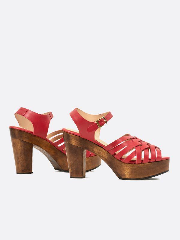 NOLAN, Todos los zapatos, Plataformas, Sandalias Plataformas, Sintético, ROJ, Vista Galeria