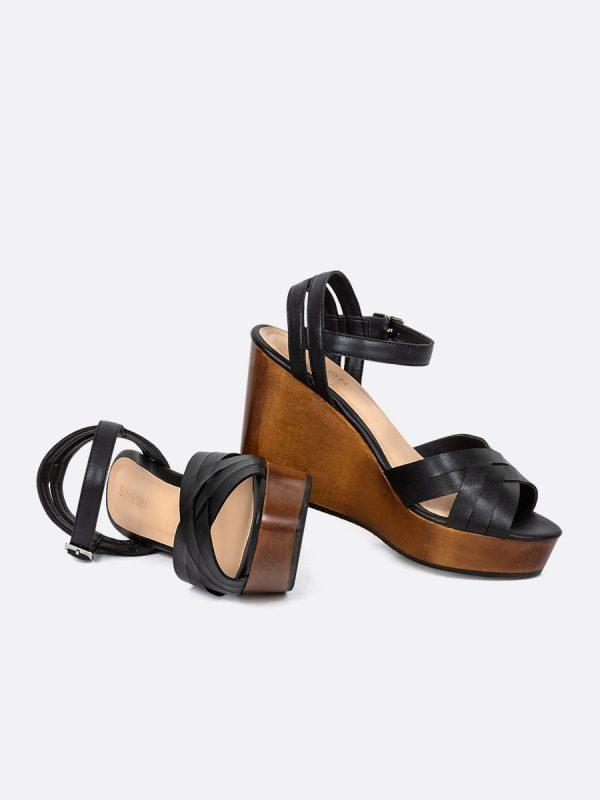 TALUA, Todos los zapatos, Plataformas, Sandalias Plataformas, Sintético, NEG, Vista Galeria