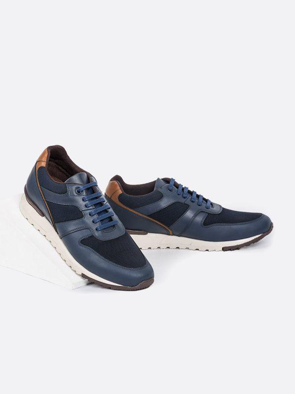 ALESS01, Todos los zapatos, Deportivos, Tenis, Casuales, Cuero, AZU, Vista Galeria