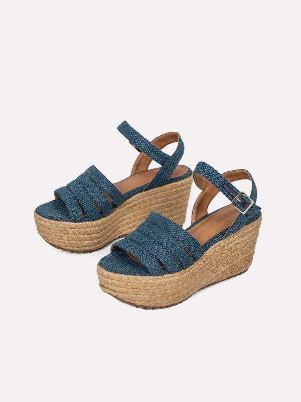AVRIL3, Todos los zapatos, Plataformas, Sandalias Plataformas, Sintético, AZU, Vista Galeria