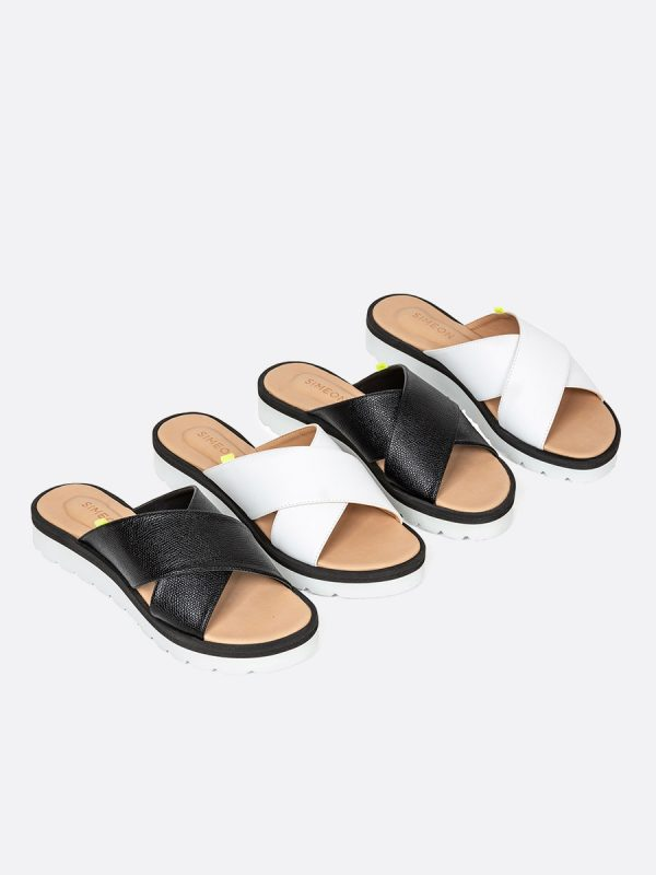 EMY, Todos los zapatos, Sandalias Planas, Sintético, Vista Galeria