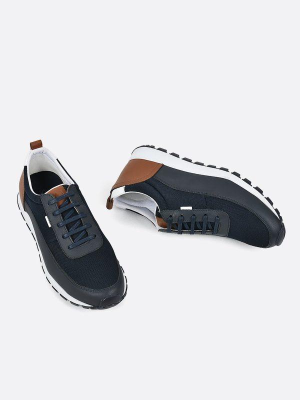 LARRY05, Todos los zapatos, Deportivos, Tenis, Cuero, AZU, Vista Galeria