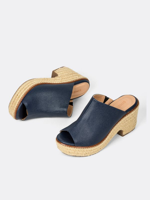 MERIK, Todos los zapatos, Plataformas, Sandalias Plataformas, Sintético, AZU, Vista Galeria