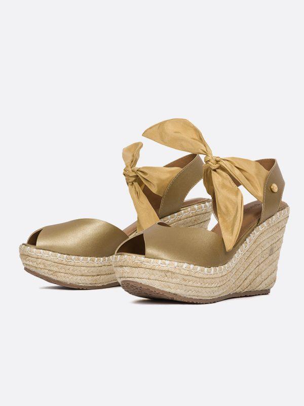 BLOW3, Todos los zapatos, Plataformas, Sandalias Plataformas, Sintético, ORO, Vista Galeria