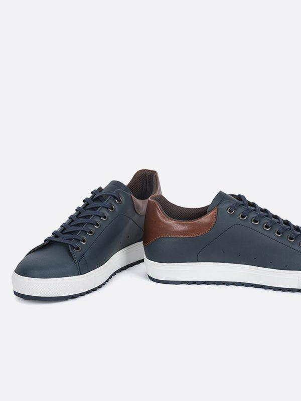 DIXON01, Todos los zapatos, Deportivos, Tenis, Casuales, Cuero, AZU, Vista Galeria