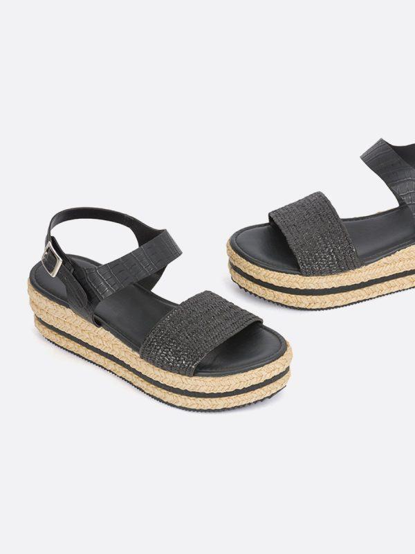 Fuji2, Todos los zapatos, Plataformas, Sandalias Plataformas, Sintético, NEG, Vista Galeria