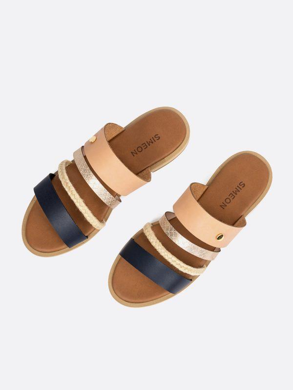 KASY, Todos los zapatos, Sandalias Planas, Sintético, AZU, Vista Galeria